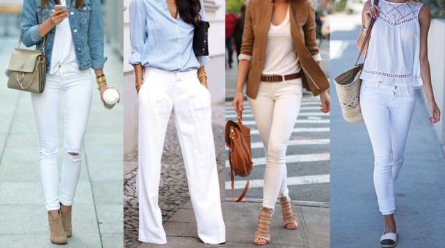 outfit casual blanco