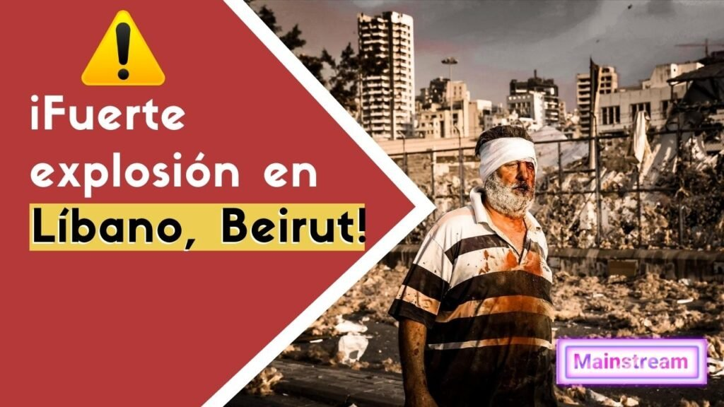 explosión en libano beirut