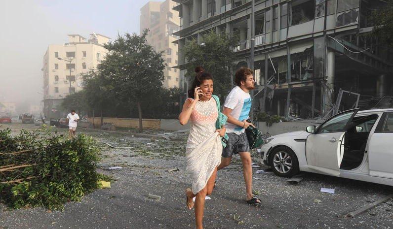 fuerte explosión en Líbano