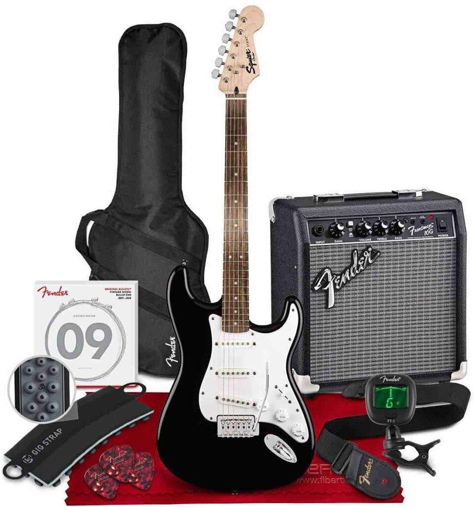 Guitarra Squier Fender Stratocaster paquete