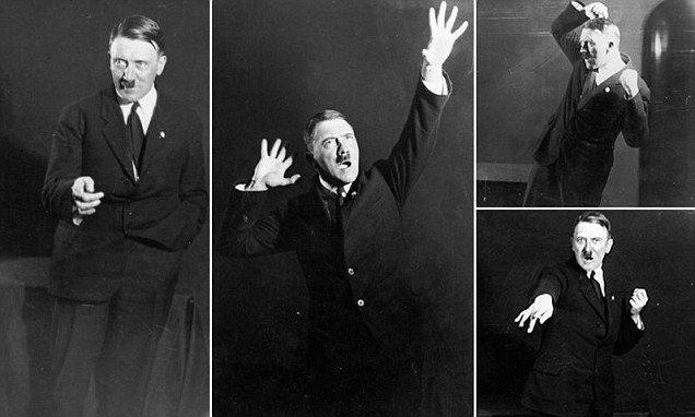 Hitler ensayando para sus discursos - holocausto